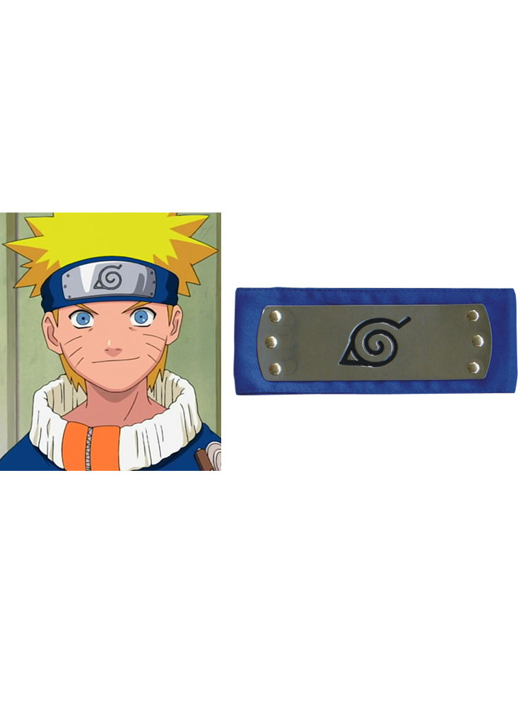 Naruto Ninja Leaf Village Headband Blue Cosplay Halloween