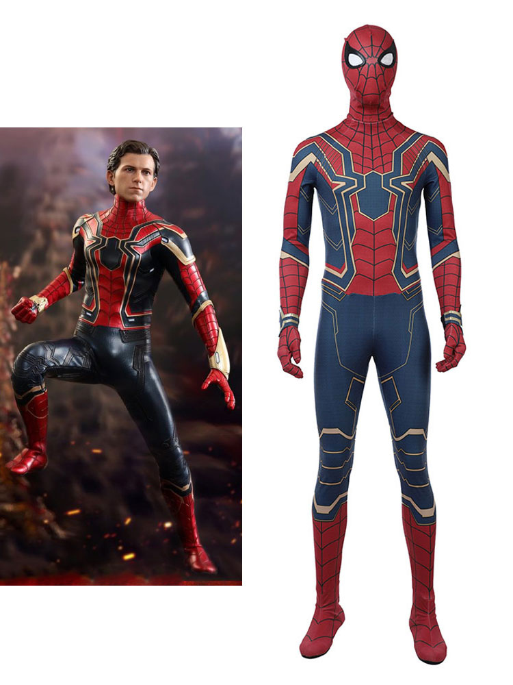 Avengers Infinity War Peter Parker Outfit Jumpsuit Halloween Cosplay Costume