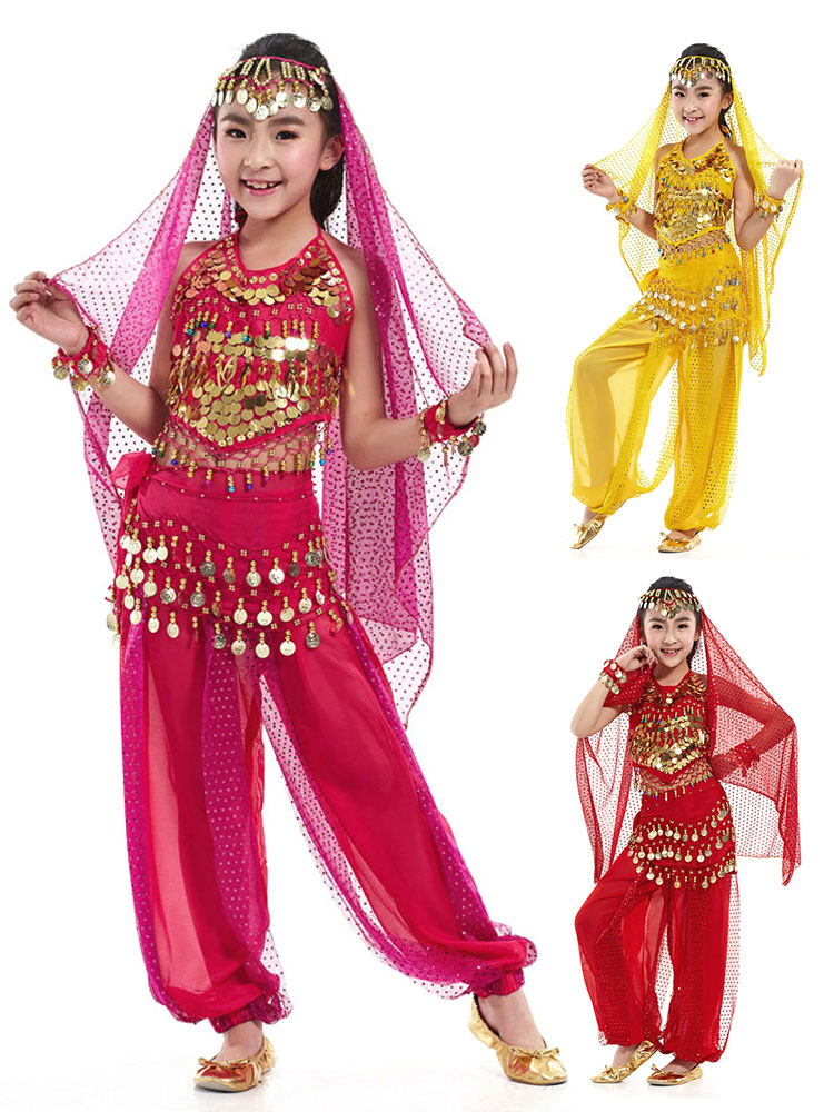 Belly Dance Veil Costume Kid's Pendent Headpiece Bollywood Dance Accessory