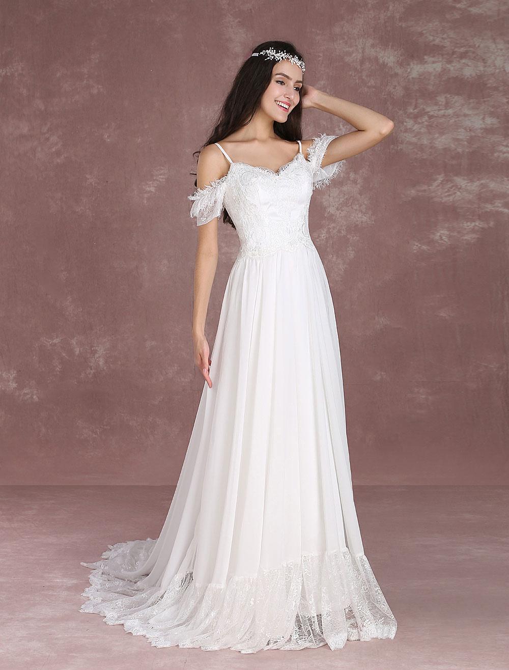 a36c482d01 ... Robe mariée bohème 2019 Robes de mariée d'été en mousseline de soie de  l ...