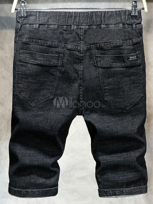 jean d chir noir denim d chir d chir jeans pour hommes. Black Bedroom Furniture Sets. Home Design Ideas