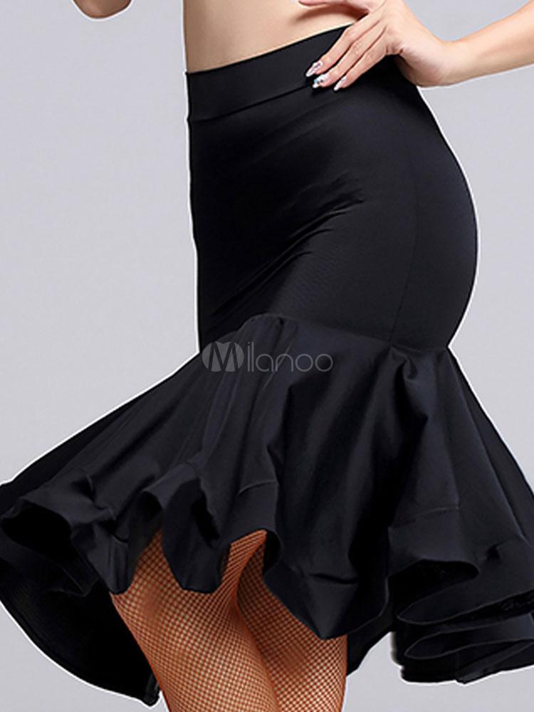 finest selection 0f457 92d19 Danza latino Costume nero balza orlo gonna da ballo latino