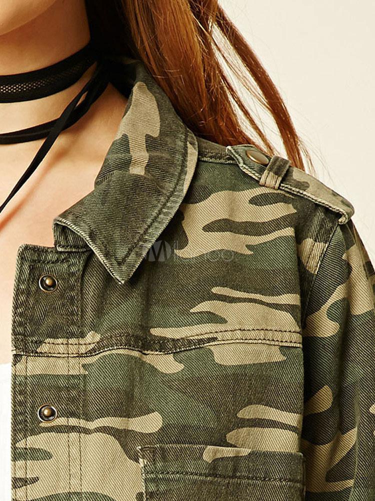 0d6576244 Chaqueta Camo de las mujeres más las camisetas de manga larga de las  mujeres de manga larga
