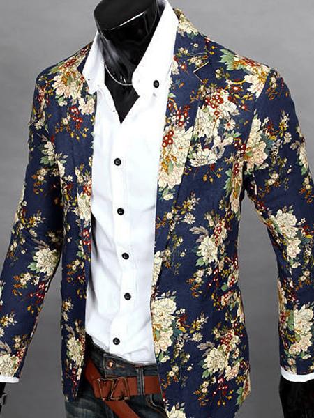 blazer homme fleuri pas cher. Black Bedroom Furniture Sets. Home Design Ideas