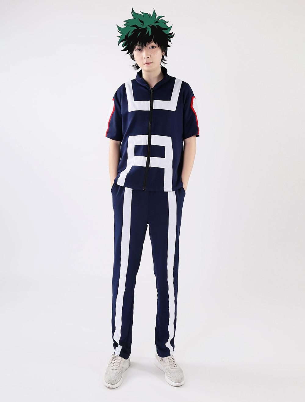 Boku no MY HERO ACADEMIA Midoriya Izuku Cosplay costume Kostüm Uniform Maske v.2
