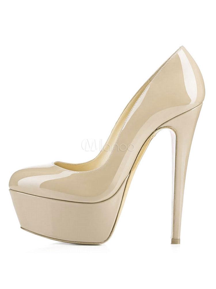 d297ad76bdc1 ... Platform High Heels 2019 Women Sexy Shoes Round Toe Slip On Pumps-No.11  ...