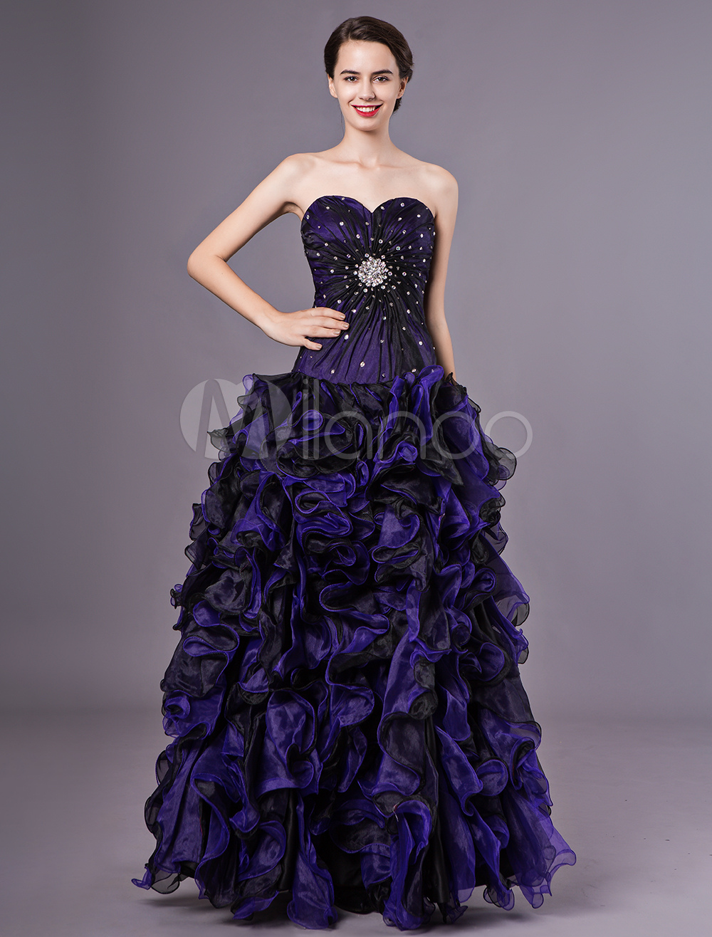 7fd683688b Royal Purple Pageant Dress Ball Gown Party Dress Sweetheart ...