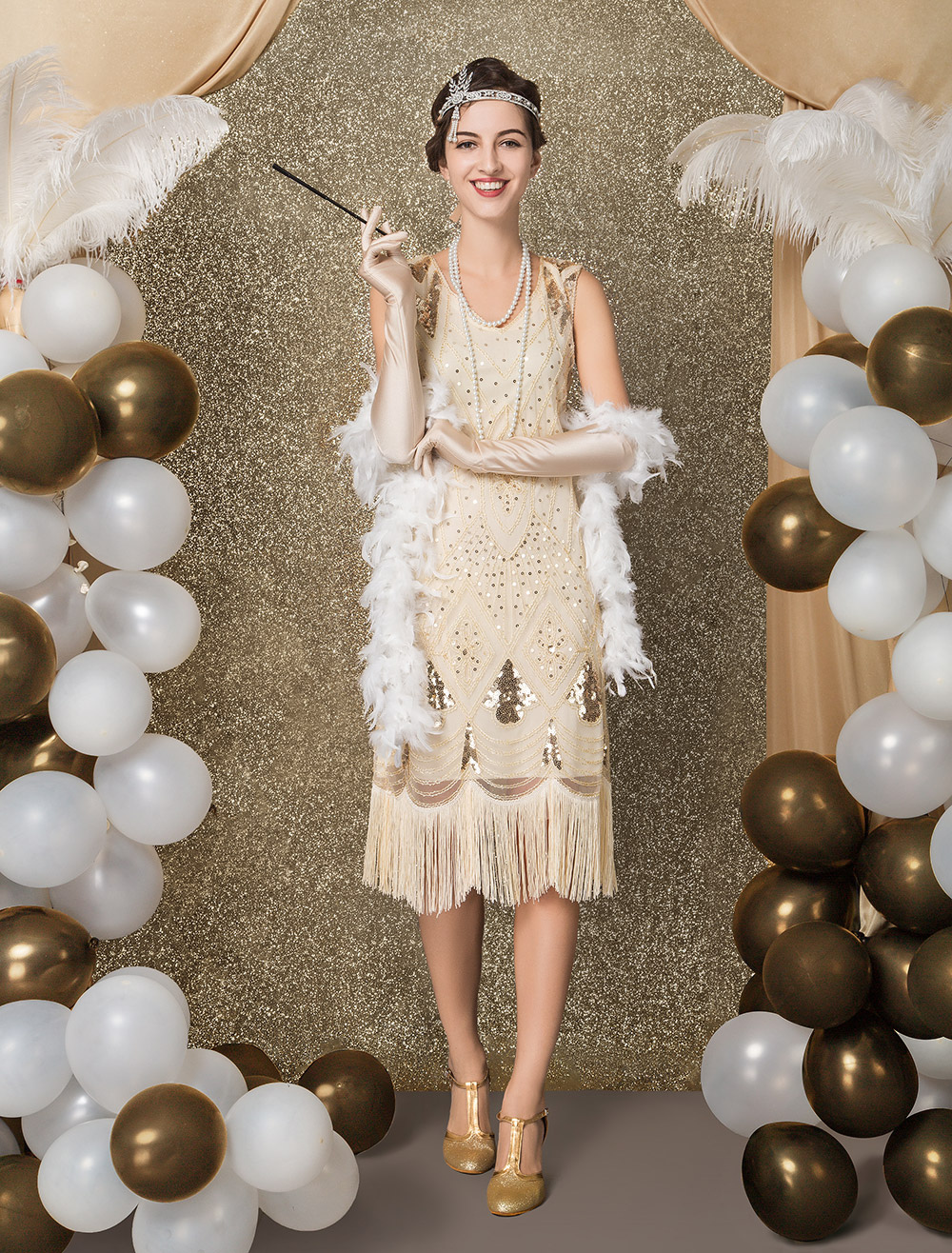 1920s Costume Flapper Dress Vintage Great Gatsby Dress