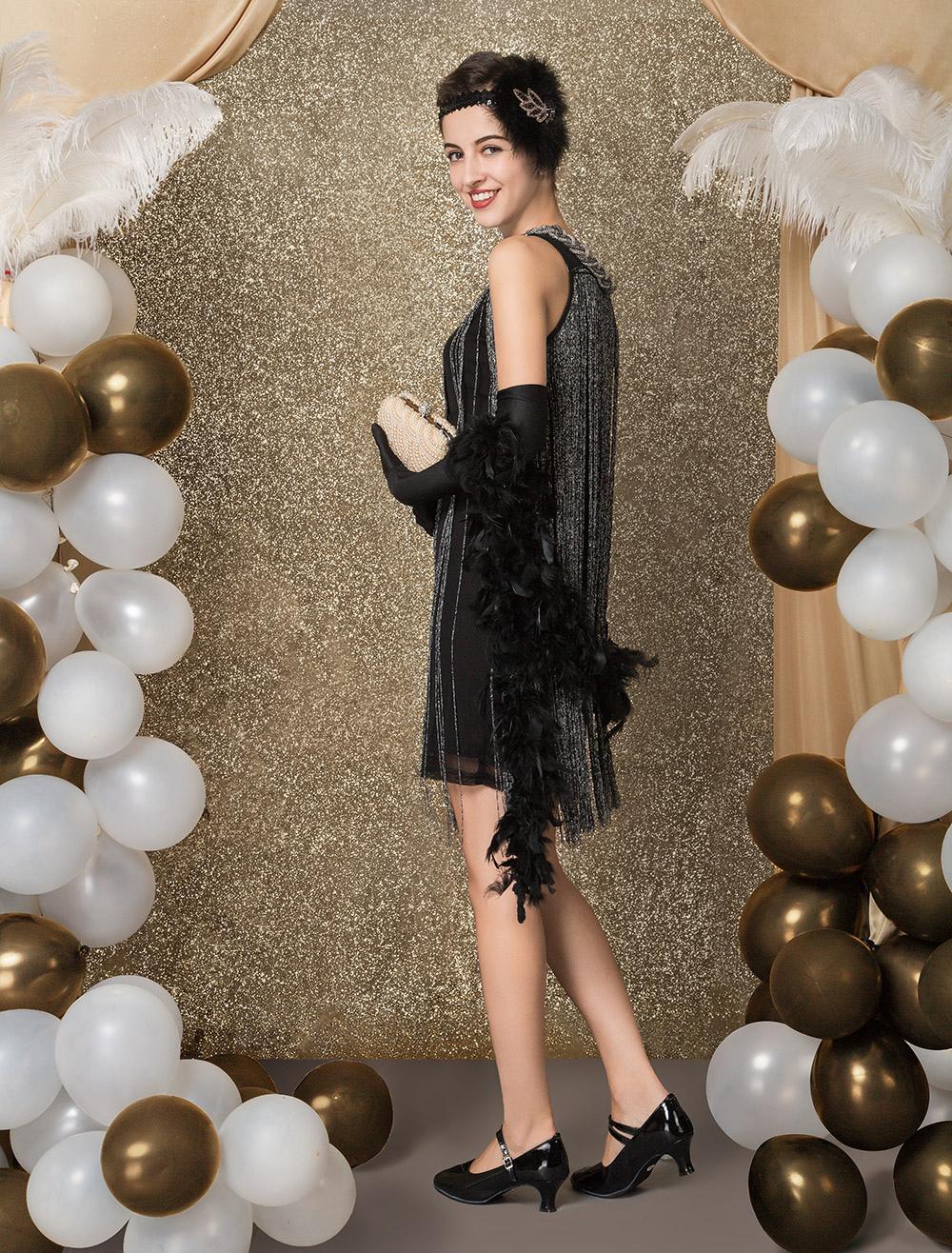 1a8bcafa9 ... Gatsby Dress Costume 1920s Flapper Dress Vintage Tassels Dress-No.8 ...