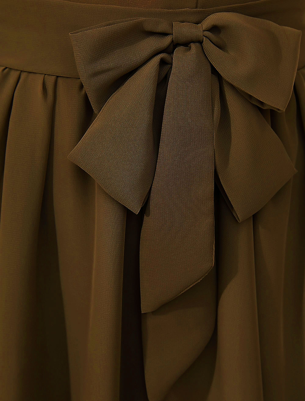 713a4ed0f6 Vestido de cóctel 2019 marrón con escote redondo con manga corta con lazo - No.