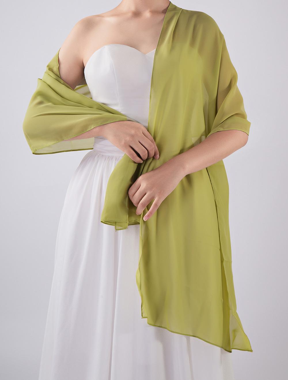 Hochzeit Zubehör Frauen Bolero Lange Wraps Elegante Weiß Sheer Sommer Formale Abendkleider Chiffon Cape Günstige Mäntel Braut Hochzeit Schals