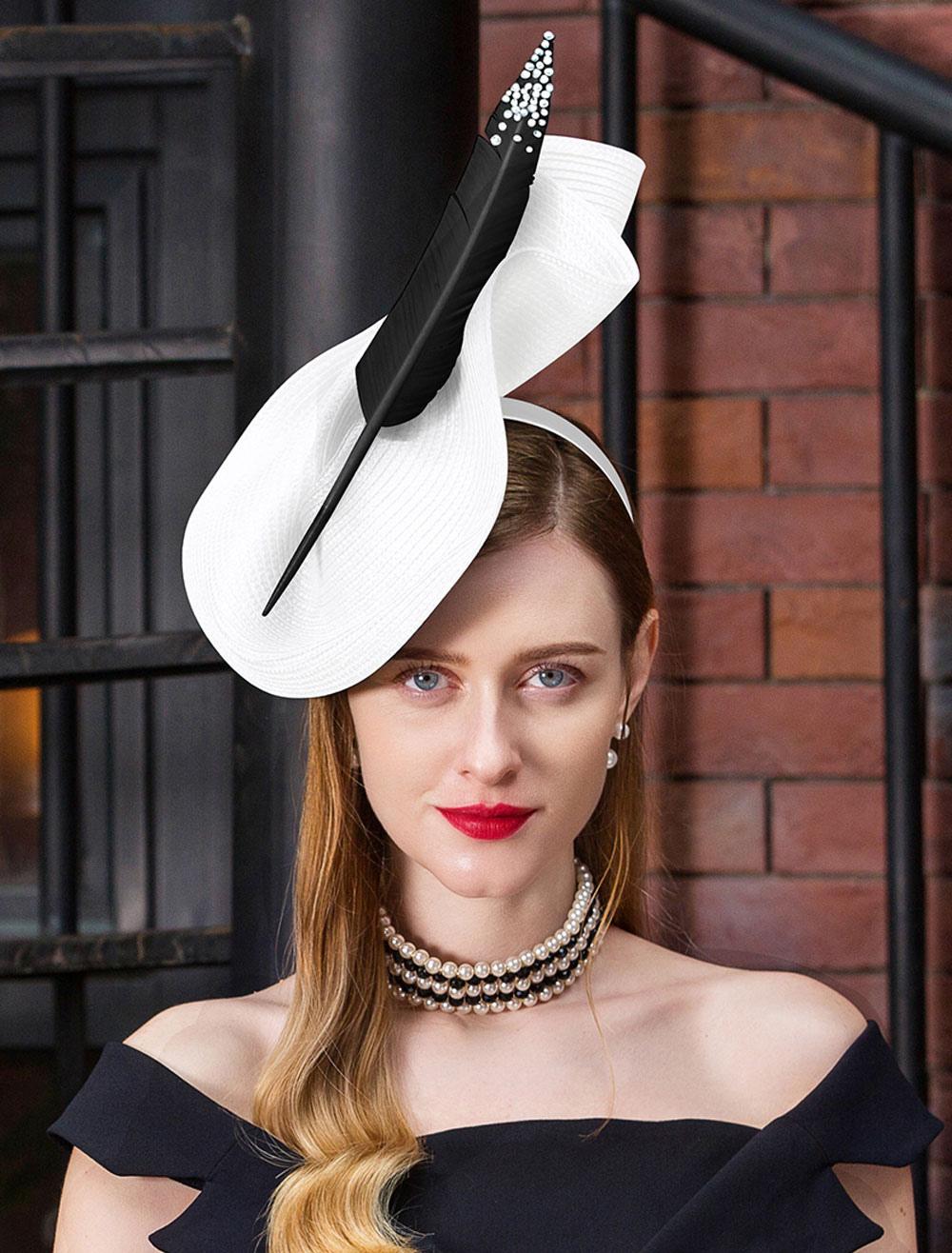 b34977cd1a0e1 ... رمادي قبعة أغطية للرأس الملكي أغطية للرأس هالوين ريترو الشعر زينة  الشعر-No.6 ...