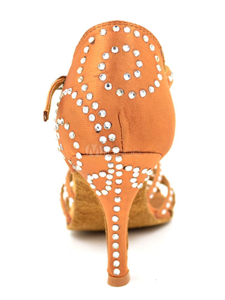 come serch più alla moda modellazione duratura Scarpe da ballo latino americano donna sandali strass chic & moderne aperto  tacco a fino 8.5cm