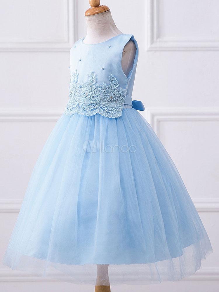 5da385a23f ... Flower Girl Dresses Pink Round Neck Sleeveless Princess Tutu Dress  Tulle Lace Studded Knee Length Dinner ...