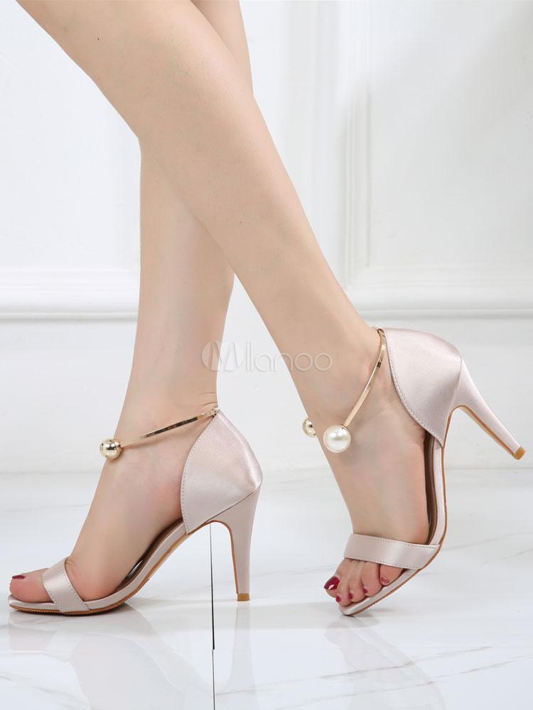 online retailer ac1e2 dc7cf Sandali Con Tacco Alto Sandali 2019 Con Vestitini Da Donna In Raso Con  Punta Aperta