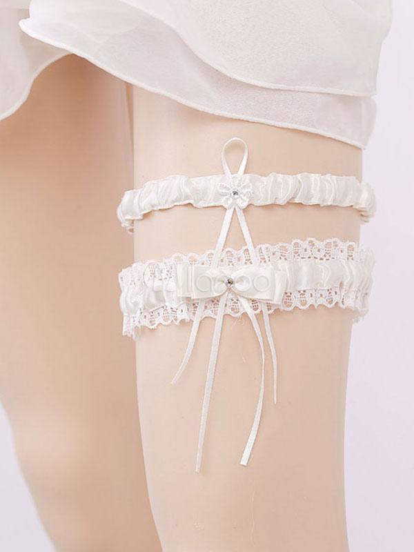 5c546151c ... Nupcial liga branco casamento rendas strass mulheres sexy lingerie  acessórios-No.5
