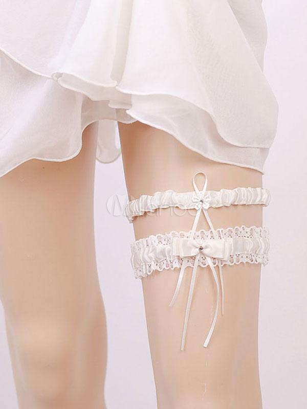 0dcbdb989 ... Nupcial liga branco casamento rendas strass mulheres sexy lingerie  acessórios-No.3 ...