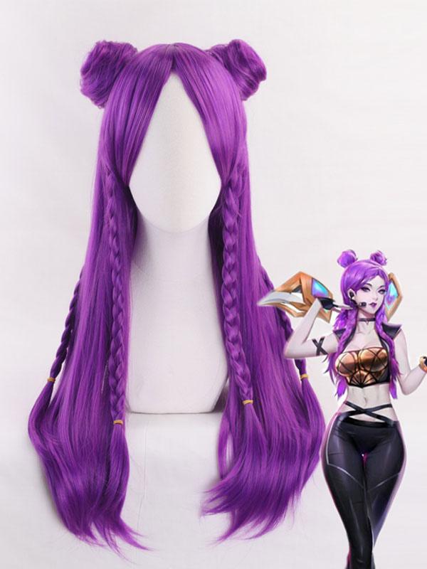 League Of Legends Lol Kda Kaisa Halloween Cosplay Wig Milanoo Com
