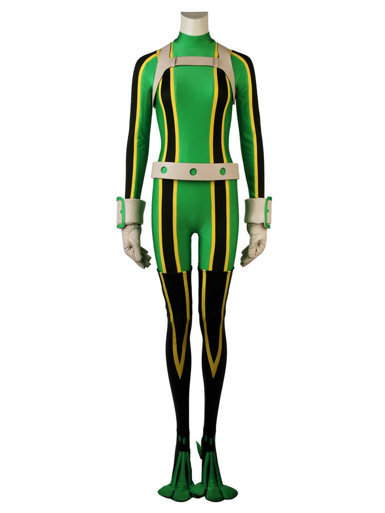 Boku No Hero Academia Tsuyu Asui Froppy Halloween Bnha Cosplay Costume Deluxe Version