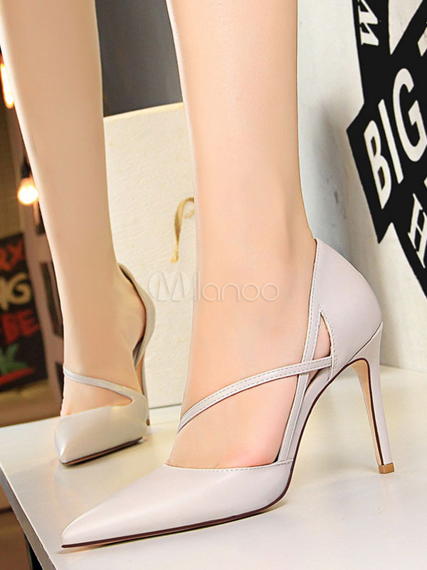 dff4cb06f59 Zapatos de vestir de tacón alto con tacones en punta para mujer Zapatos de  vestir- ...