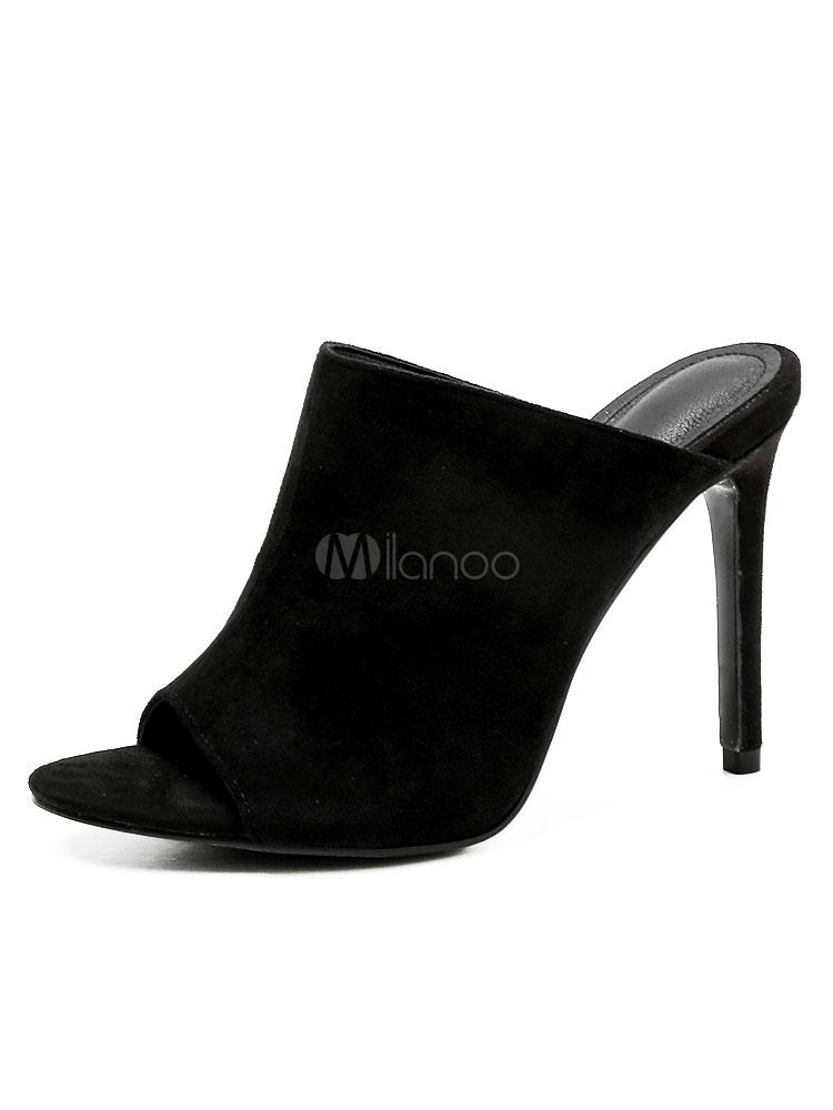 Abierto Zapatos Alto Mujer En Para De Con Gamuza Tacón shCxQdtr