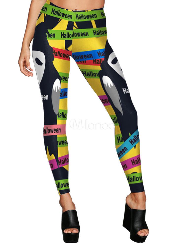 6059519866514 Halloween Leggings Costume Women Running Sports 3D Print Yoga Pants-No.1 ...