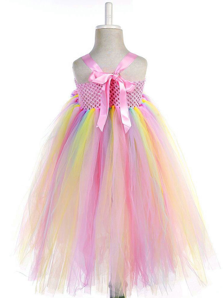 4443d93700f9 Rainbow Unicorn Dresses Baby Girls Princess Tutu Fancy Dress Headband Kids  Halloween Costume-No.