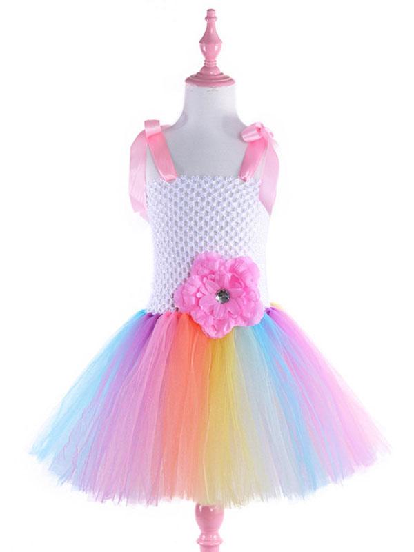 c76fe6922 ... Unicornio Vestidos 2019 Niñas Princesa Tutu Vestido de lujo con diadema  Disfraz de Halloween-No ...