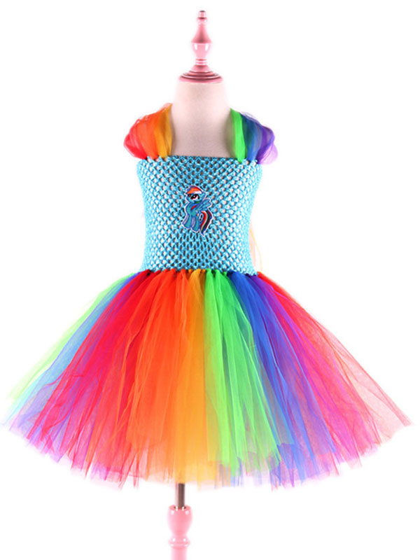 Prinzessin Kleid mit Diadem pink//rosa Kinder Kostüm Neu Mädchen Karneval Fasc