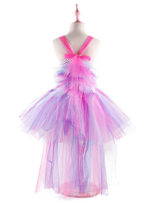 7d066655f Vestidos de Rainbow Unicorn 2019 Niñas bebés Princesa asimétrica Tutu  disfraz de Halloween