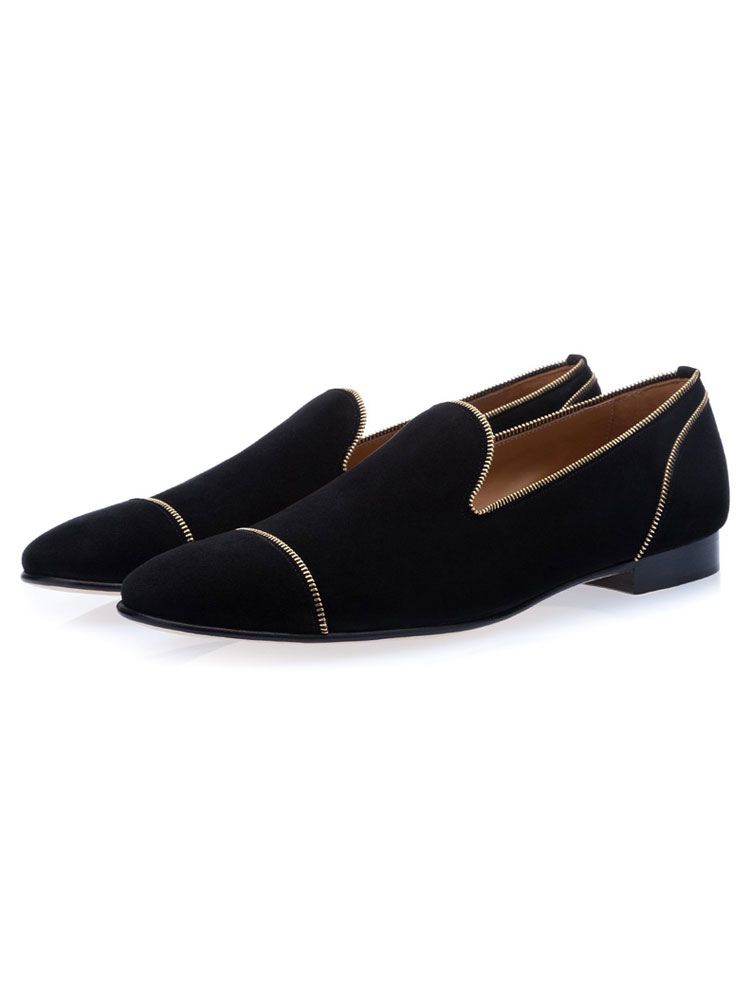 mens black prom loafers