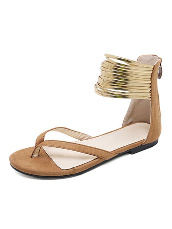 Scamosciata Per Donna Bassi Cinturino Blu Con 2019 Sandali In Pelle c5AjR4L3q