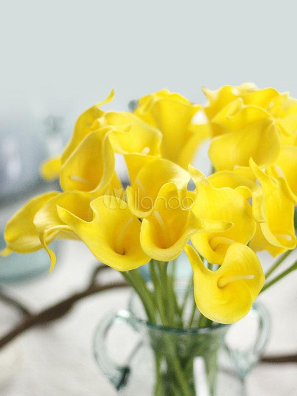 Flower Wedding Decorations Table Centerpieces Calla Lily Home Decor 4pcs No1