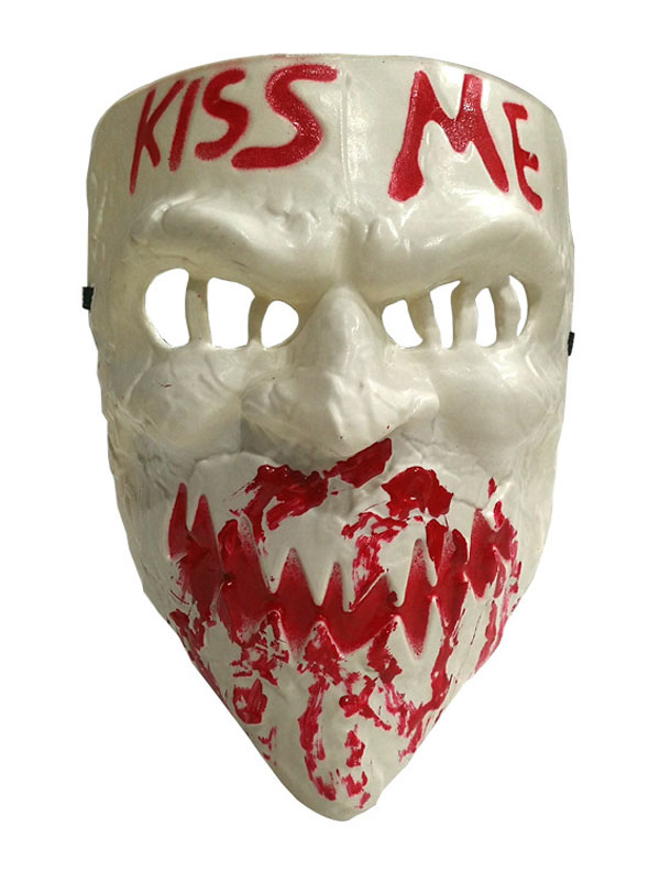 The Purge 3 Kiss Me Election Year Resin Scary Mask Fancy Cosplay Halloween Props