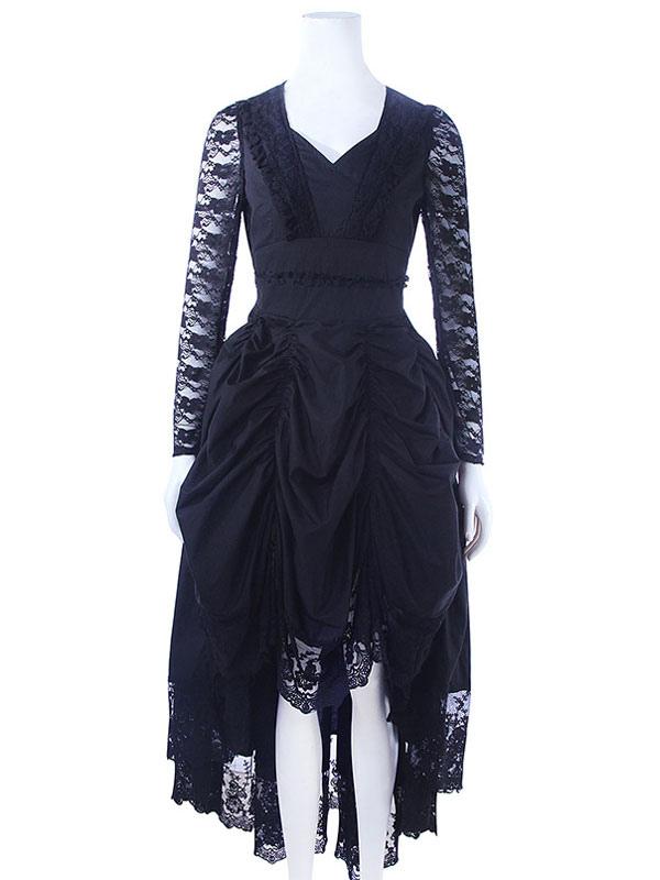 V Retro Kleid Medieva Renaissance Viktorianisches Kostüm Gothic V08nnwm xtsCBrdQh