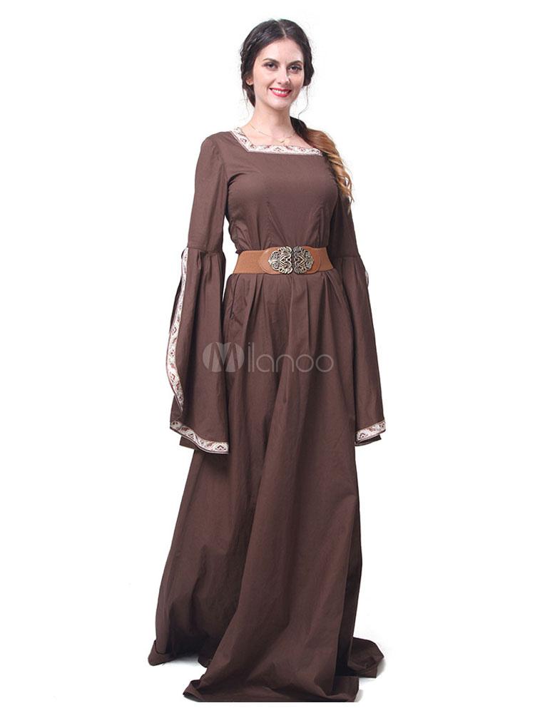 san francisco 8345b 3e86b Retro Costume Halloween Abiti medievali rinascimentali Abito da donna Royal  Maxi Costumi Cosplay