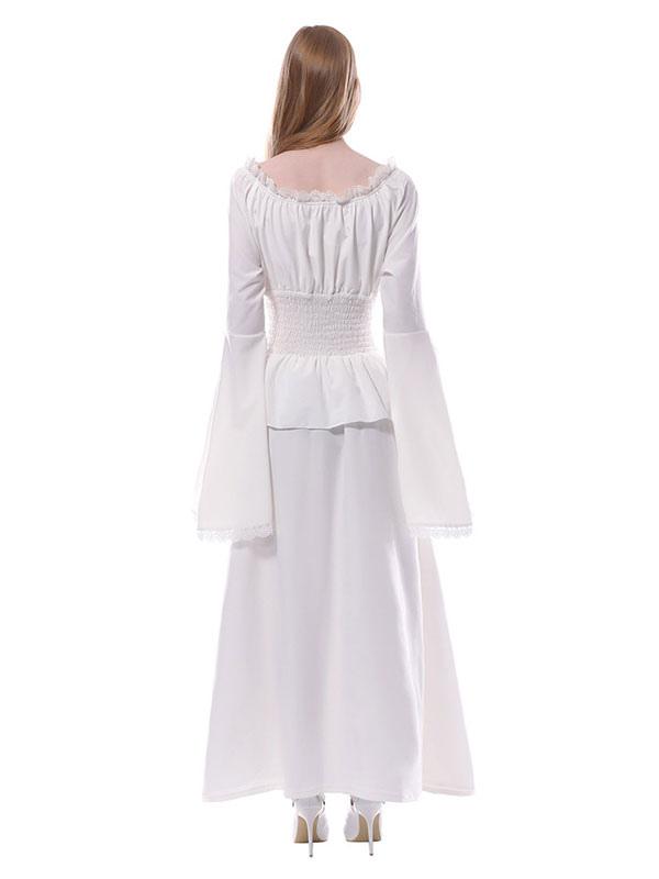 90b28cdb5 ... Vestidos Medievales Blancos Victorian Chiffon Maxi Disfraces de Halloween  Mujer-No.3 ...