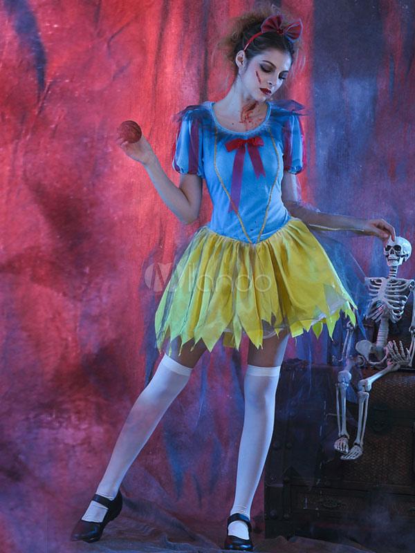 Zombie Schneewittchen Kostüm Prinzessin Halloweenkostüm Zombiekostüm Halloween