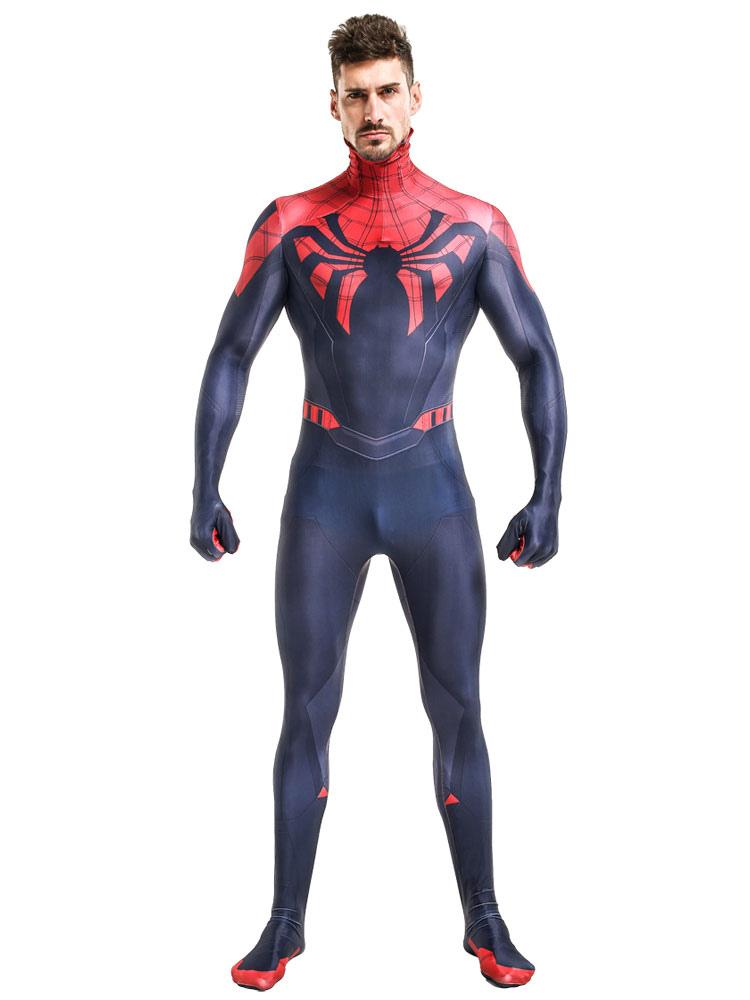 spiderman kost m halloween superhelden herren ganzk rper. Black Bedroom Furniture Sets. Home Design Ideas