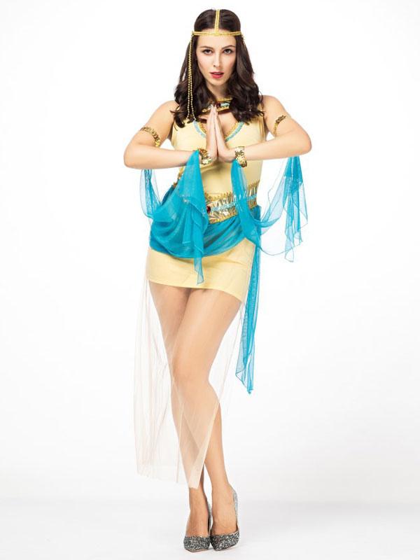 fd3567e1ae06 Outfit di abiti corti gialli di Halloween Costume Halloween Women-No.1 ...