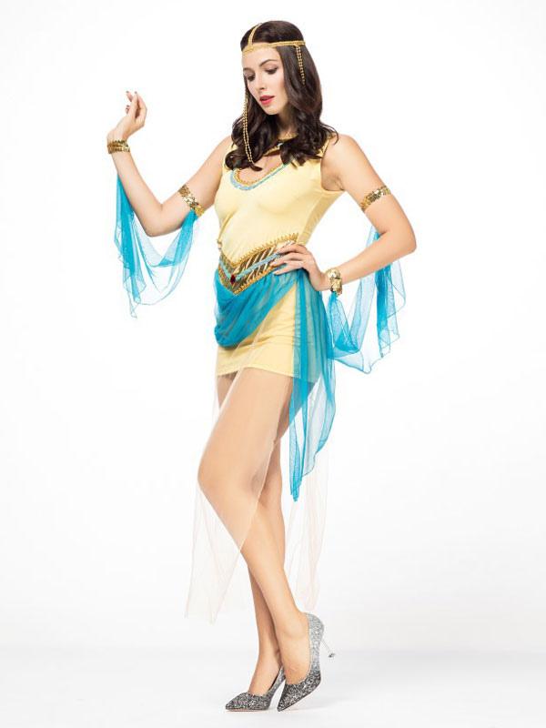 1d91d55e260d ... Outfit di abiti corti gialli di Halloween Costume Halloween Women-No.3  ...
