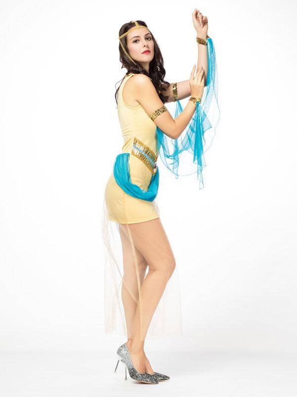 8f75e7c6fda5 ... Outfit di abiti corti gialli di Halloween Costume Halloween Women-No.4  ...