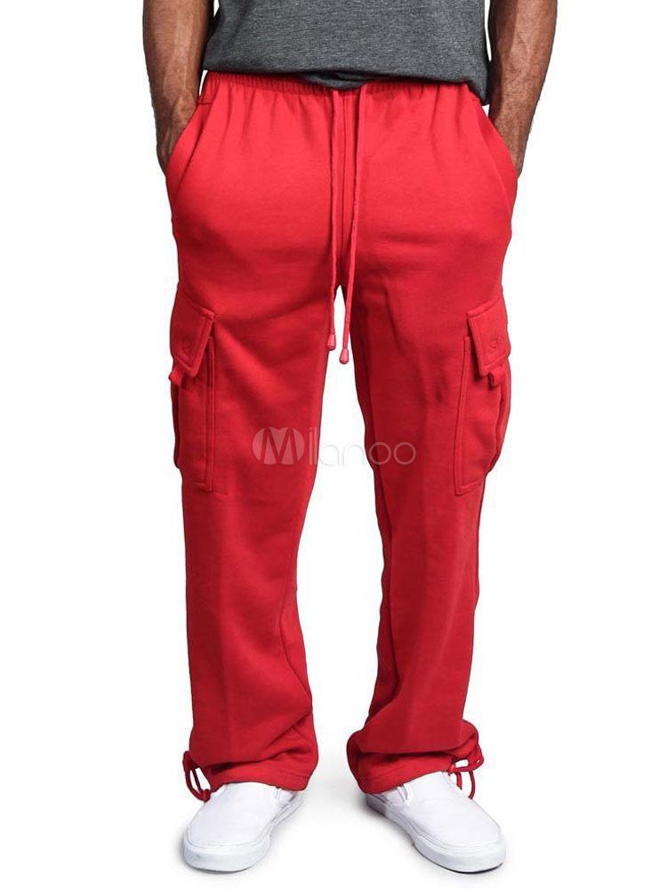 77cd7ace Мужские спортивные штаны с боковыми карманами на шнурке - Milanoo.com/ru