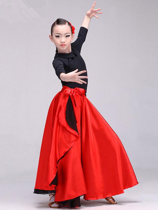 Ypperlig Paso Doble Dance Costume Flamenco Skirt Girls Kids Spanish IN-13