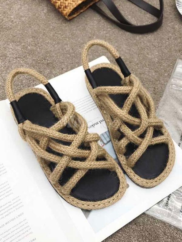 536ccc5b9a73 Женские сандалии на плоской подошве с открытыми носками