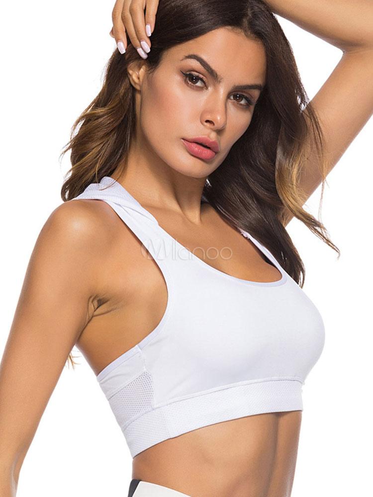 47df4cd1ca746 Hooded Crop Top Women Nets Sleeveless Summer Top - Milanoo.com