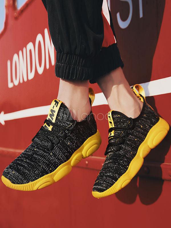 c8fb426e0 ... أحذية رياضية رجالية حمراء حياكة الصوف جولة تو الرباط حتى أحذية عادية-No.2  ...