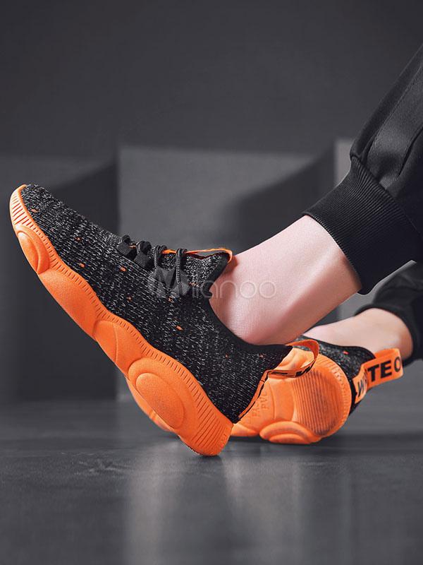 fe42abc25 ... أحذية رياضية رجالية حمراء حياكة الصوف جولة تو الرباط حتى أحذية عادية-No.3  ...