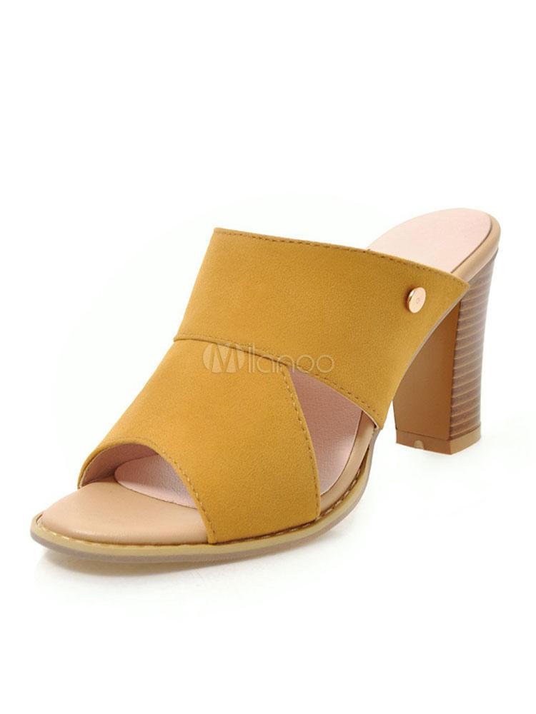 pas mal 2d27e 1cd0f Mules à talons hauts femmes peep toe mule chaussures