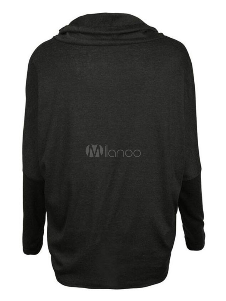 official photos 8e90c 68be7 Übergroße Damen Sweatshirt Schal Kragen Drawstring Pullover Top